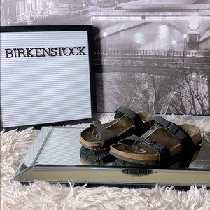 Birkenstock Black Strappy Sandal Size 38 50